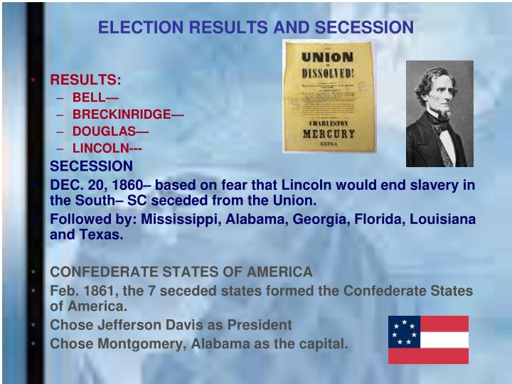 Election results and secession