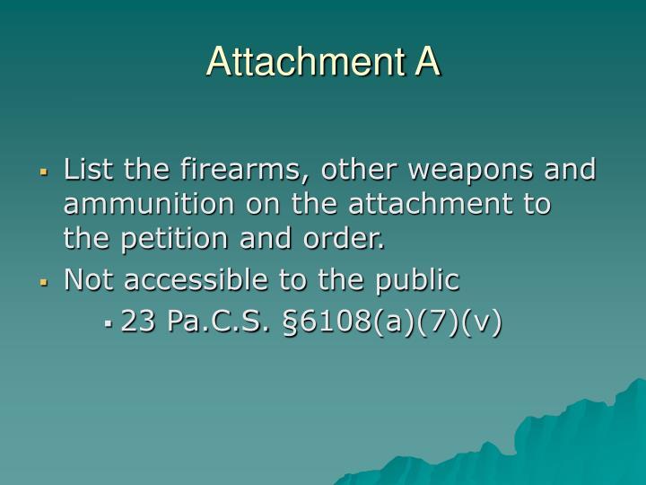 Attachment A