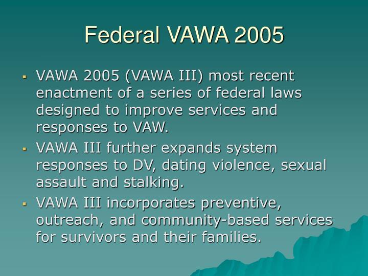 Federal VAWA 2005