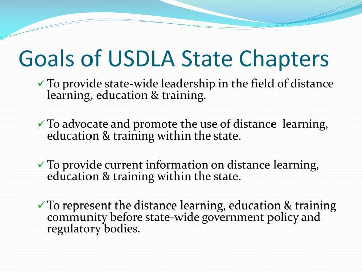 Goals of USDLA State Chapters