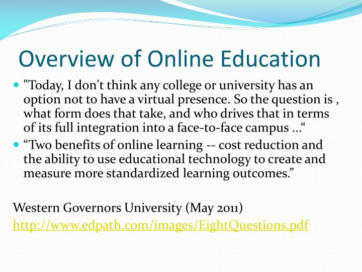 Overview of online education