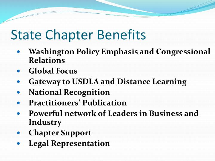 State Chapter Benefits