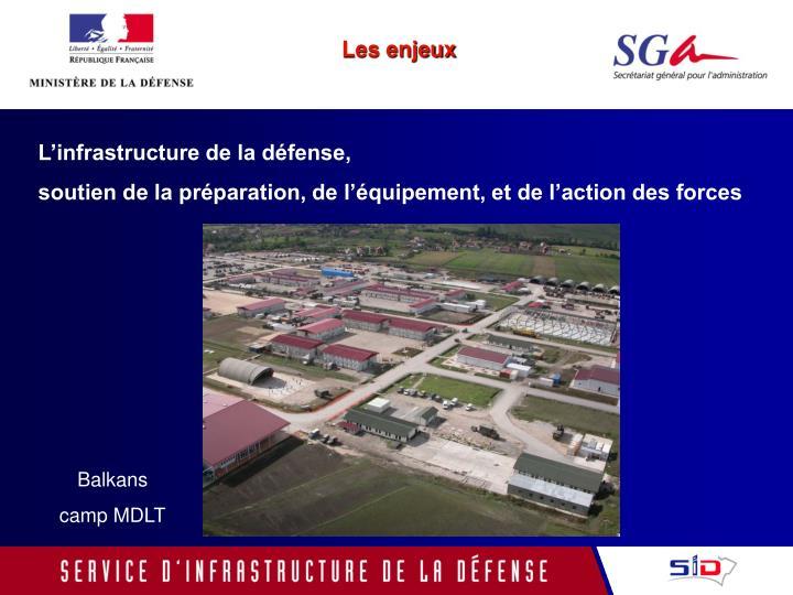 L'infrastructure de la défense,