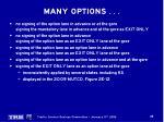 many options5