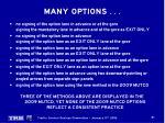 many options8