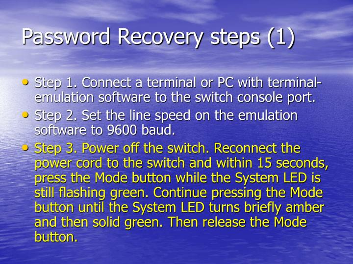 Password Recovery steps (1)