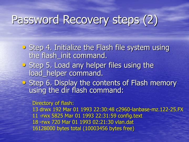 Password Recovery steps (2)