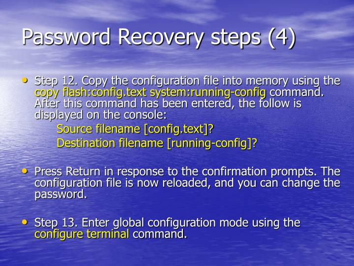 Password Recovery steps (4)