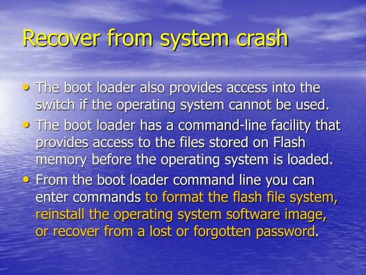 Recover from system crash