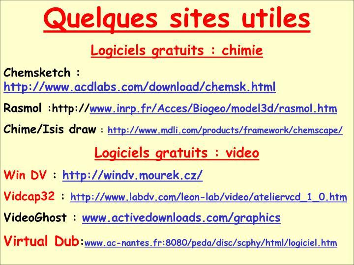 Quelques sites utiles