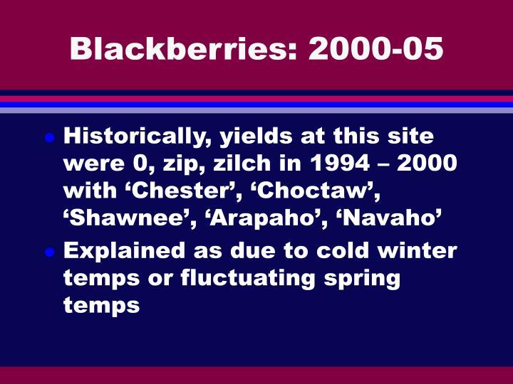 Blackberries: 2000-05