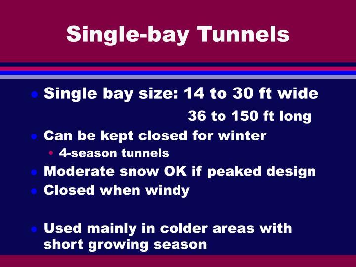 Single-bay Tunnels
