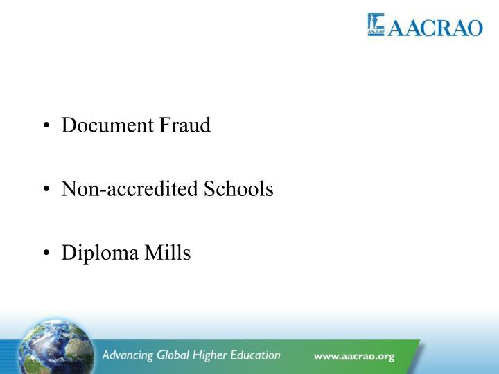 Document Fraud