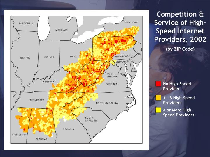 Competition & Service of High-Speed Internet Providers, 2002
