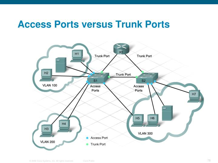 Access Ports versus Trunk Ports