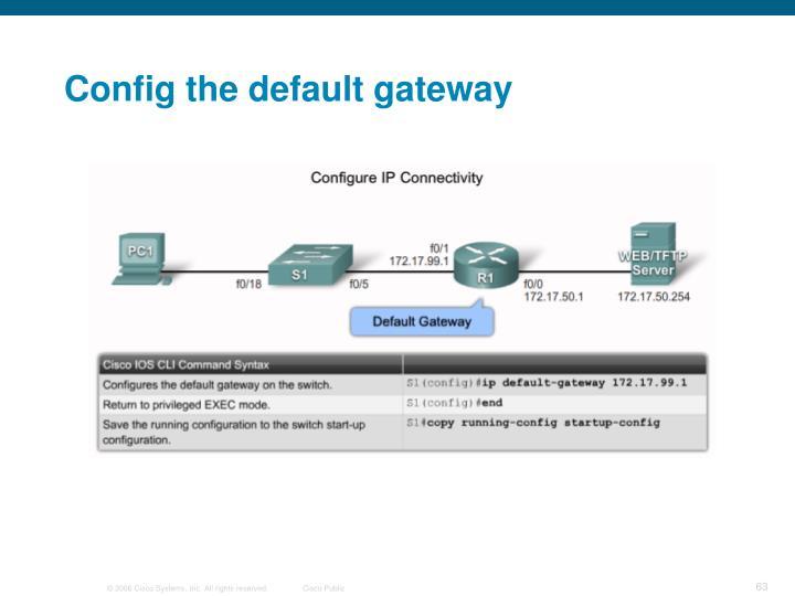 Config the default gateway