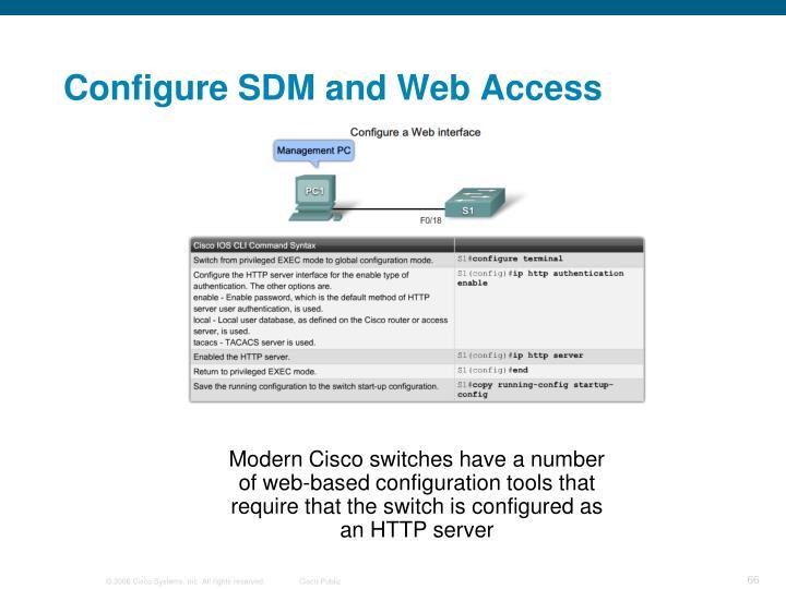 Configure SDM and Web Access