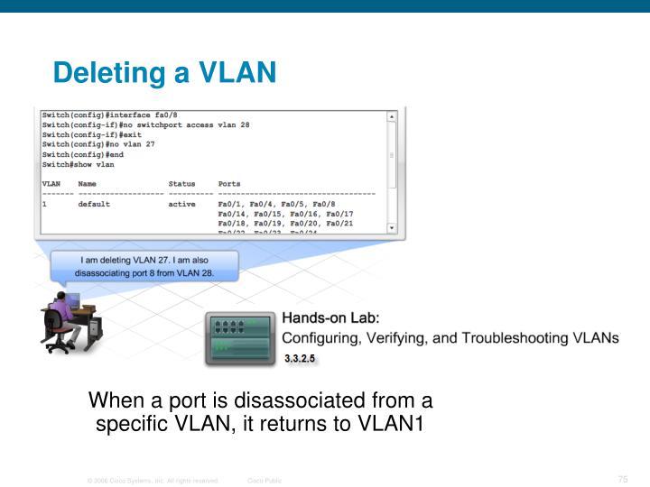 Deleting a VLAN