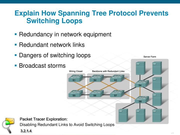 Explain How Spanning Tree Protocol Prevents Switching Loops