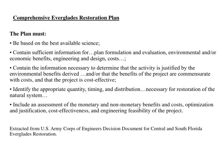 Comprehensive Everglades Restoration Plan