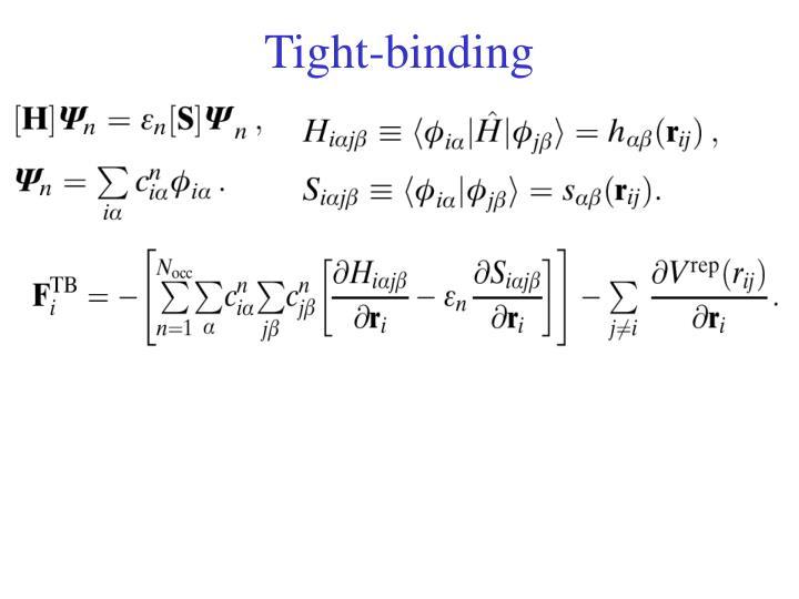 Tight-binding