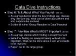 data dive instructions3