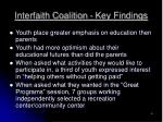 interfaith coalition key findings