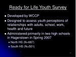 ready for life youth survey