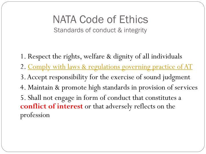 NATA Code of Ethics