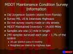 mdot maintenance condition survey information