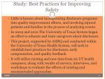 the texas disclosure and compensation study best practices for improving safety