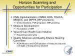 horizon scanning and opportunities for participation1