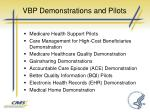 vbp demonstrations and pilots1