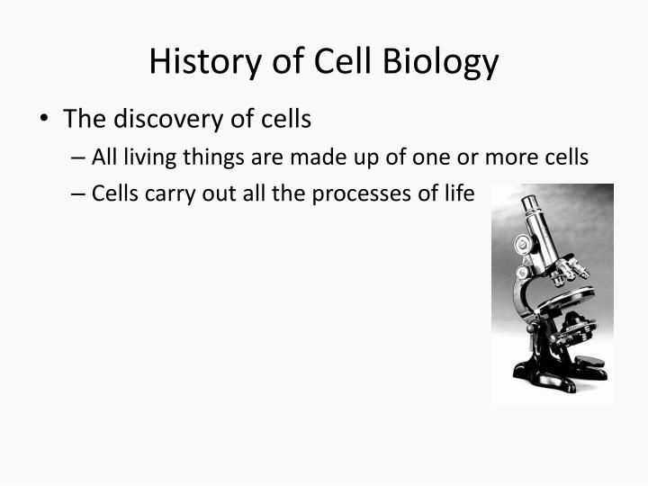 History of cell biology