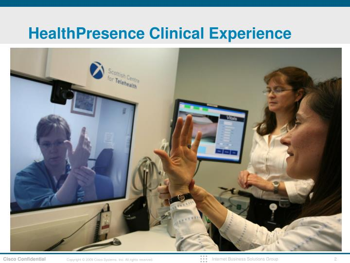 Healthpresence clinical experience