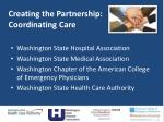 creating the partnership coordinating care