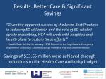 results better care significant savings