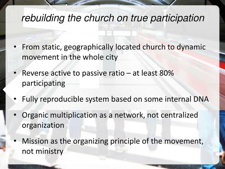 rebuilding the church on true participation