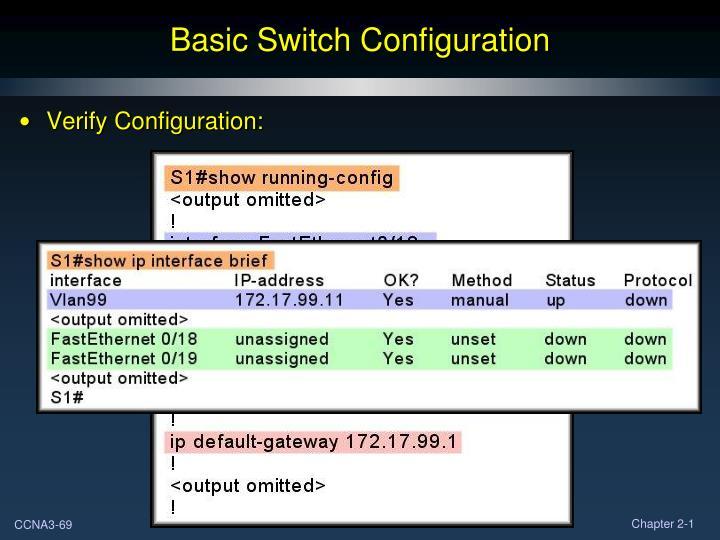 Basic Switch Configuration