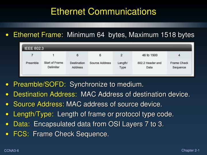 Ethernet Communications