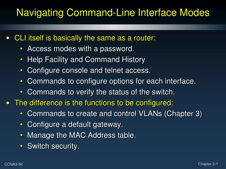 Navigating Command-Line Interface Modes