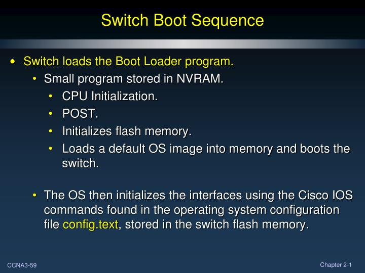 Switch Boot Sequence