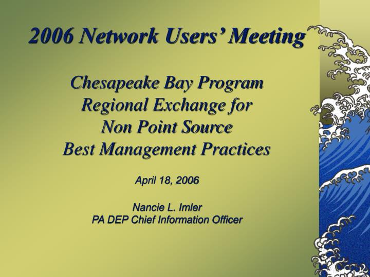 2006 Network Users' Meeting