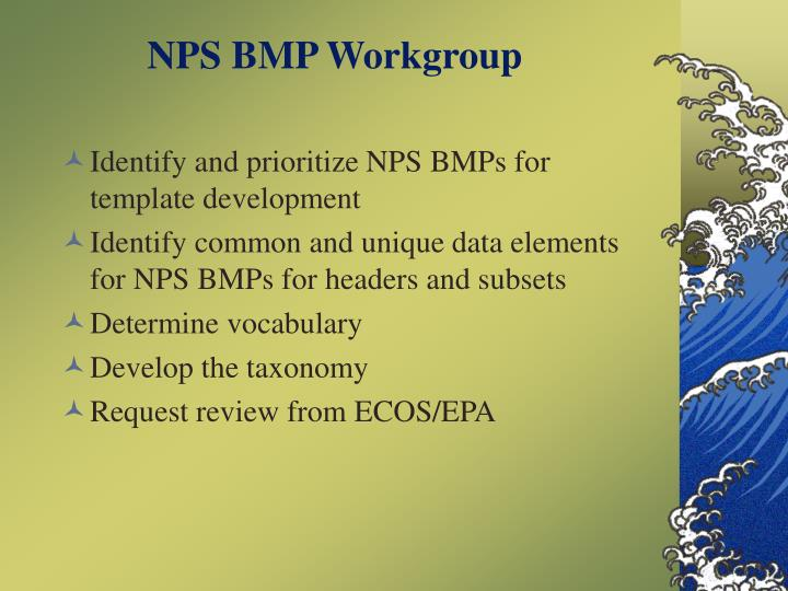 NPS BMP Workgroup