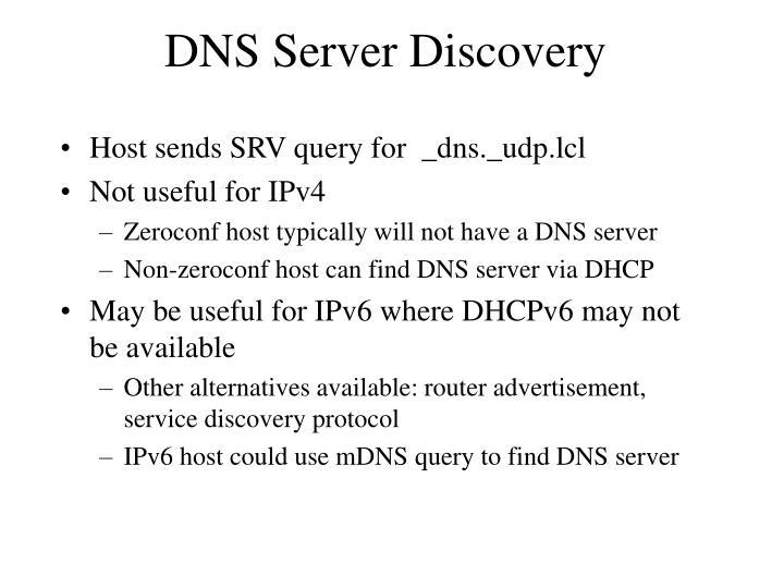 DNS Server Discovery