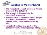 sweden in the nordugrid