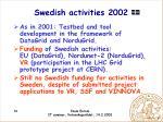 swedish activities 2002