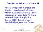 swedish activities history