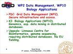 wp2 data management wp10 biology applications