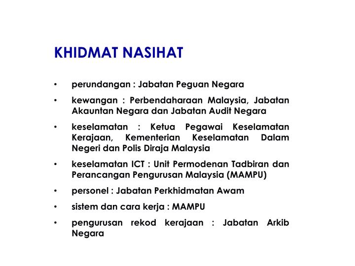 KHIDMAT NASIHAT